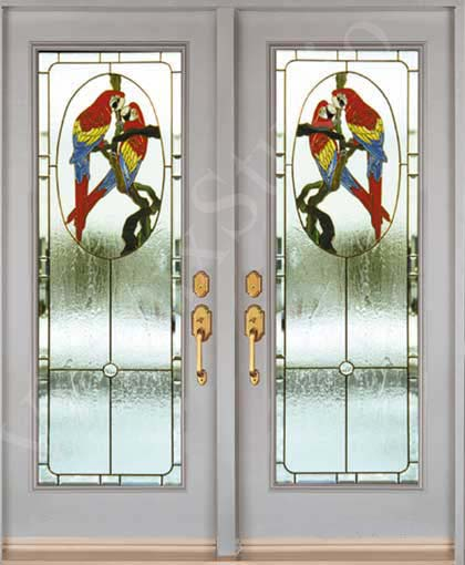 vitraux studio custom made stained glass inserts